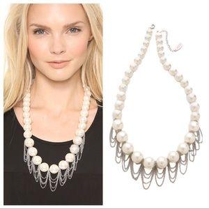 Adia Kibur Pearl & Chain Necklace NWOT